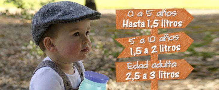Hidratacion infantil -botellas de acero