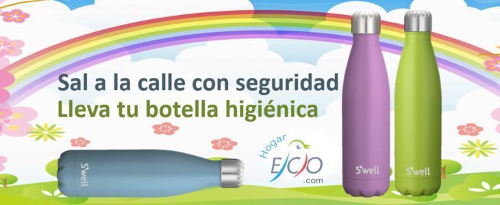 botella higienica conra coronavirus covid-19 Hidratarse