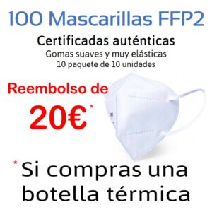 KIT DE VIAJES - MASCARILLAS FFP2 - BOTELLAS DE ACERO